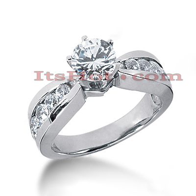 14K Gold Diamond Engagement Ring Mounting 0.68ct Main Image