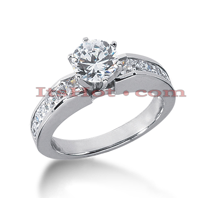 14K Gold Diamond Engagement Ring Mounting 0.70ct Main Image