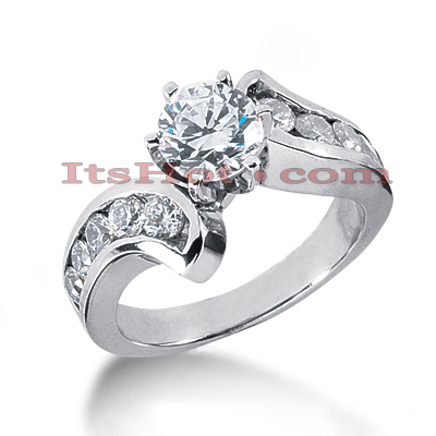 14K Gold Diamond Engagement Ring Mounting 0.74ct Main Image