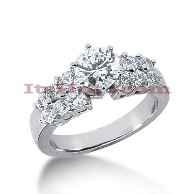 14K Gold Diamond Engagement Ring Mounting 0.76ct Main Image