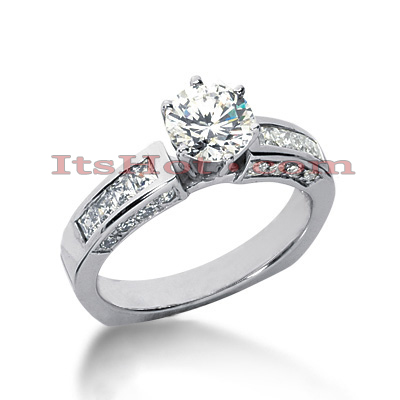 14K Gold Diamond Engagement Ring Mounting 0.80ct Main Image