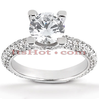 14K Gold Diamond Engagement Ring Mounting 0.85ct Main Image