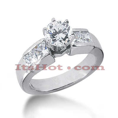 14K Gold Diamond Engagement Ring Mounting 1.08ct Main Image