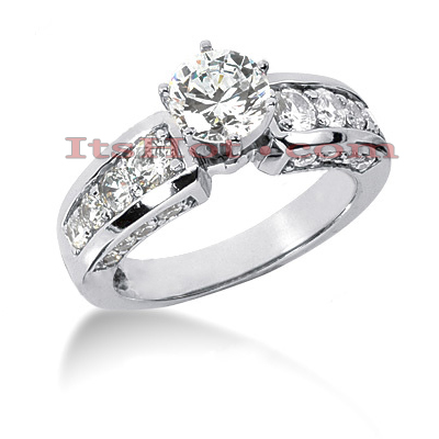 14K Gold Diamond Engagement Ring Mounting 1.16ct
