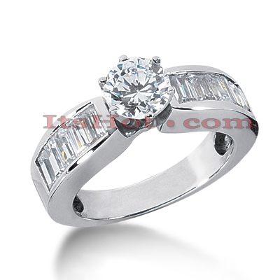 14K Gold Diamond Engagement Ring Mounting 1.20ct Main Image