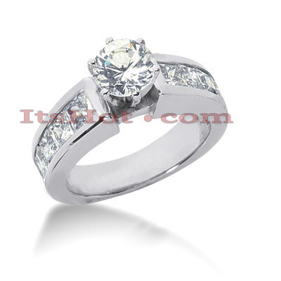 14K Gold Diamond Engagement Ring Mounting 1.22ct Main Image