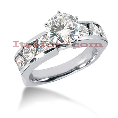 14K Gold Diamond Engagement Ring Mounting 1.32ct Main Image