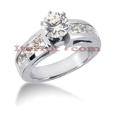 14K Gold Diamond Engagement Ring Mounting 1.36ct Main Image