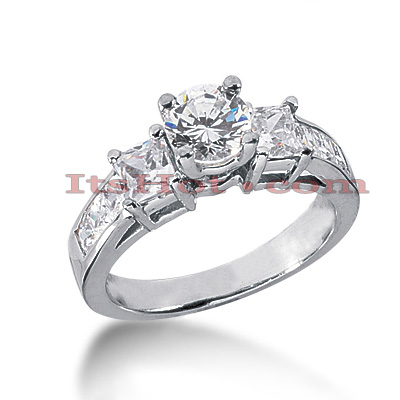 14K Gold Diamond Engagement Ring Mounting 1.40ct Main Image