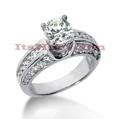14K Gold Diamond Engagement Ring Mounting 1.48ct Main Image