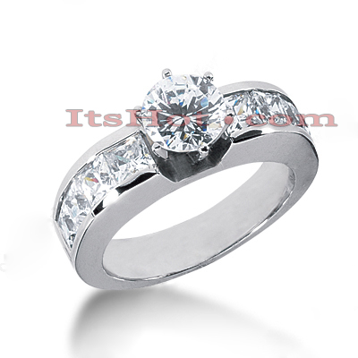 14K Gold Diamond Engagement Ring Mounting 1.60ct