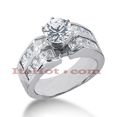 14K Gold Diamond Engagement Ring Mounting 1.60ct Main Image