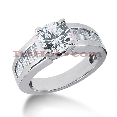 14K Gold Diamond Engagement Ring Mounting 1ct Main Image