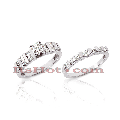 14K Gold Diamond Engagement Ring Set 0.64ct Main Image