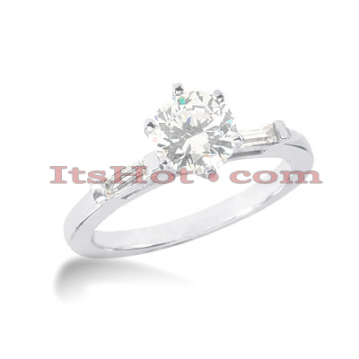 14K Gold Diamond Engagement Ring Setting 0.08ct Main Image