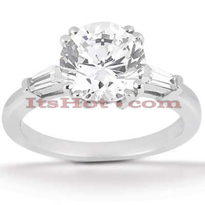 14K Gold Diamond Engagement Ring Setting 0.14ct