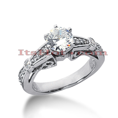 14K Gold Diamond Engagement Ring Setting 0.20ct Main Image