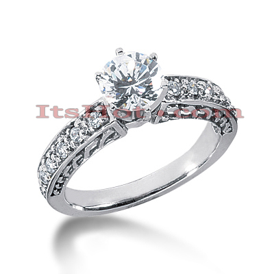 14K Gold Diamond Engagement Ring Setting 0.30ct