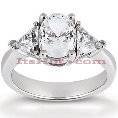Thin 14K Gold Diamond Engagement Ring Setting 0.30ct Main Image