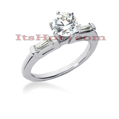 14K Gold Diamond Engagement Ring Setting 0.34ct Main Image