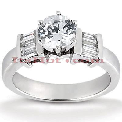 14K Gold Diamond Engagement Ring Setting 0.36ct Main Image