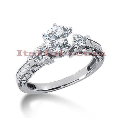 14K Gold Diamond Engagement Ring Setting 0.40ct Main Image