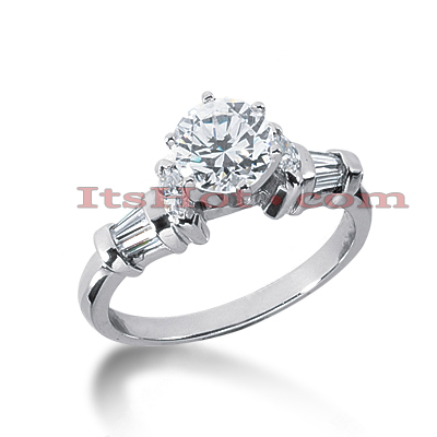 14K Gold Diamond Engagement Ring Setting 0.46ct Main Image
