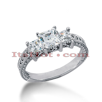 14K Gold Diamond Engagement Ring Setting 0.54ct Main Image