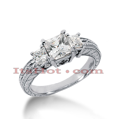 14K Gold Diamond Engagement Ring Setting 0.57ct Main Image