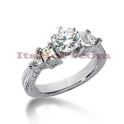 14K Gold Diamond Engagement Ring Setting 0.60ct