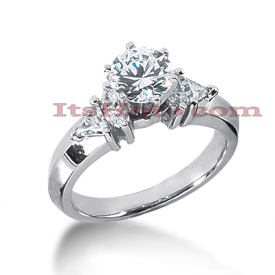 14K Gold Diamond Engagement Ring Setting 0.60ct Main Image