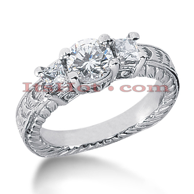 14K Gold Diamond Engagement Ring Setting 0.62ct