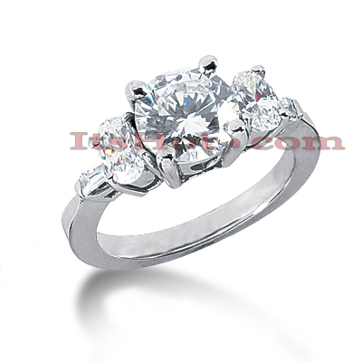 14K Gold Diamond Engagement Ring Setting 0.80ct Main Image