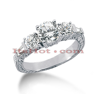 14K Gold Diamond Engagement Ring Setting 0.84ct Main Image