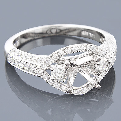 14K Gold Diamond Engagement Ring Setting 0.85ct Main Image