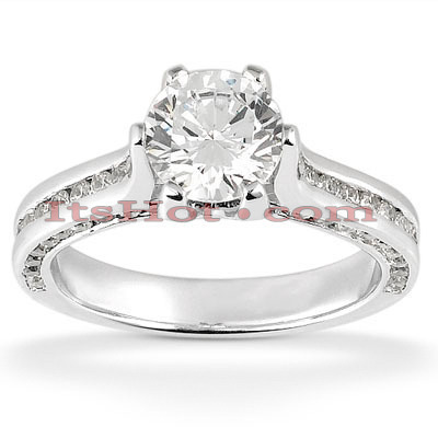 14K Gold Diamond Engagement Ring Setting 0.93ct Main Image