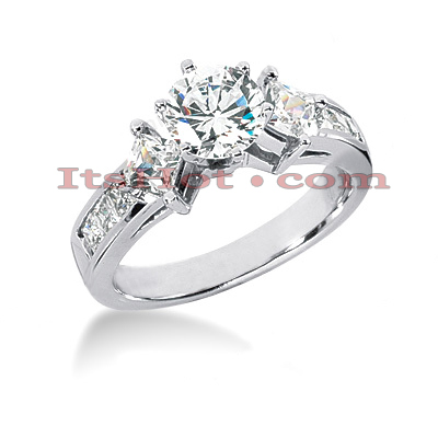 14K Gold Diamond Engagement Ring Setting 0.96ct Main Image