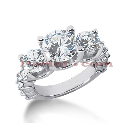 14K Gold Diamond Engagement Ring Setting 2.48ct
