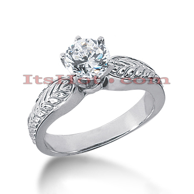 14K Gold Diamond Engagement Ring Setting Main Image