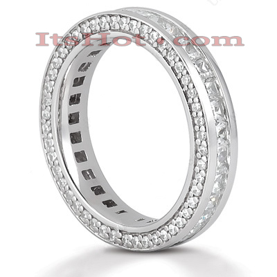 14K Gold Diamond Eternity Band 1.93ct
