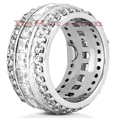 14K Gold Diamond Eternity Ring 5.68ct