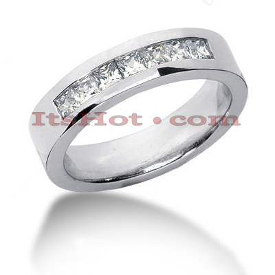 14K Gold Diamond Men's Wedding Ring 0.98ct Main Image
