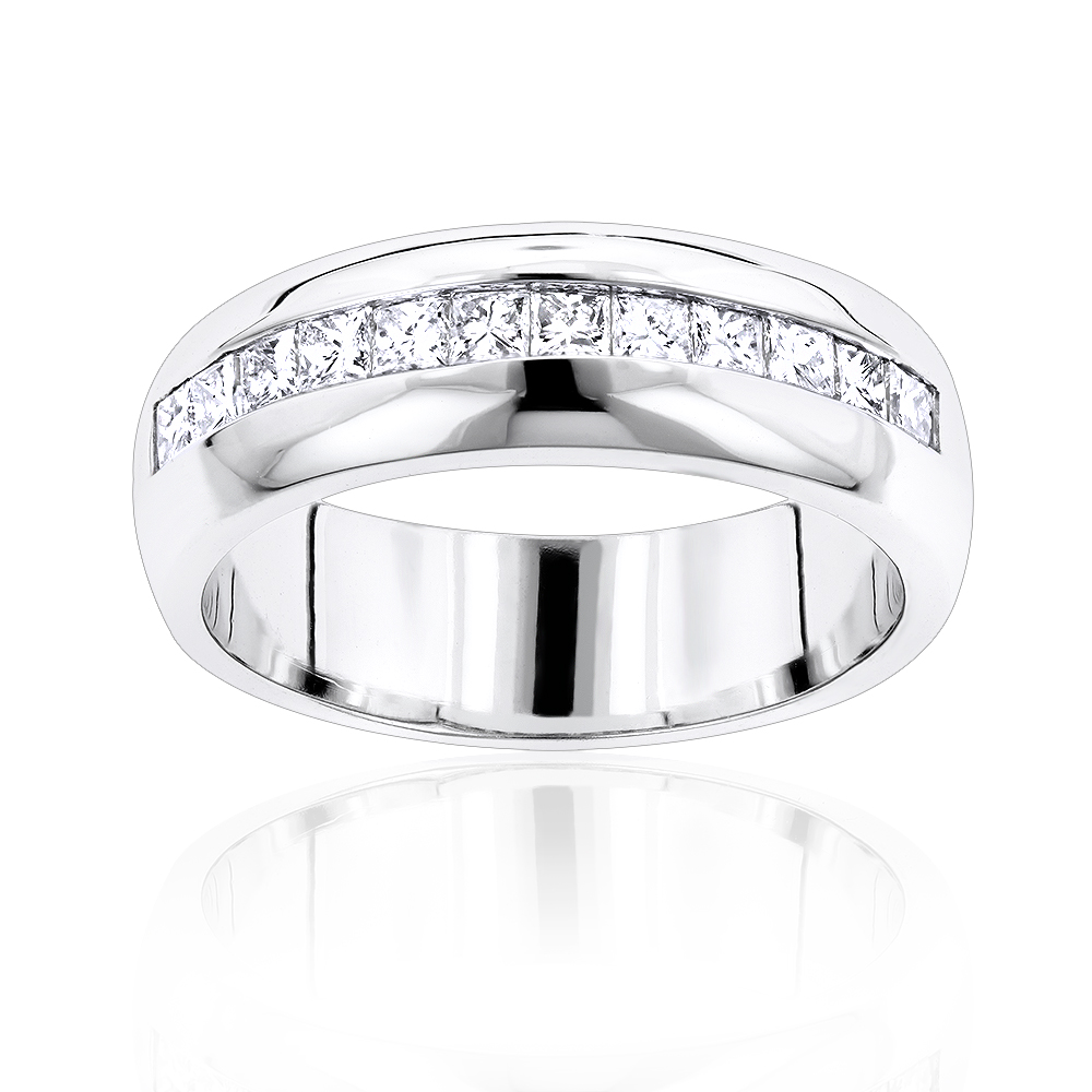 14K Gold Diamond Men's Wedding Ring 1.20ct