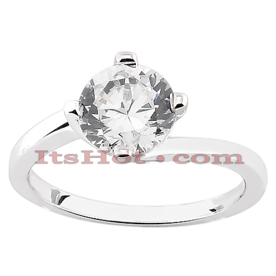 14K Gold Diamond Solitaire Engagement Ring 0.50ct Main Image