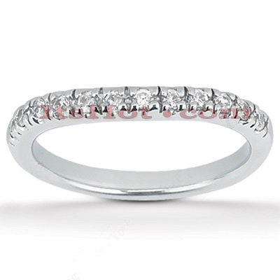 14K Gold Diamond Unique Engagement Band 0.28ct
