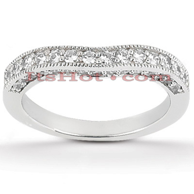 Thin 14K Gold Diamond Unique Engagement Band 0.34ct
