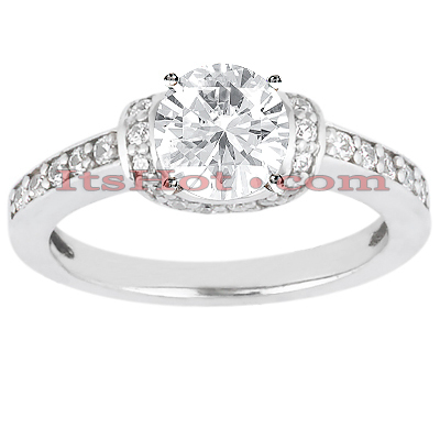 14K Gold Diamond Unique Engagement Ring 0.71ct