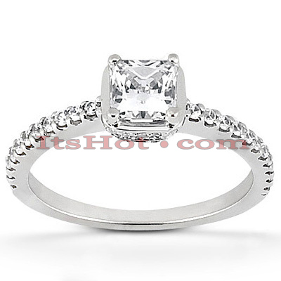 14K Gold Diamond Unique Engagement Ring 0.81ct 3/16 in (4.5mm) center; 1/8 in (1.5mm) band Main Image