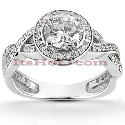 14K Gold Diamond Unique Engagement Ring 0.86ct Main Image