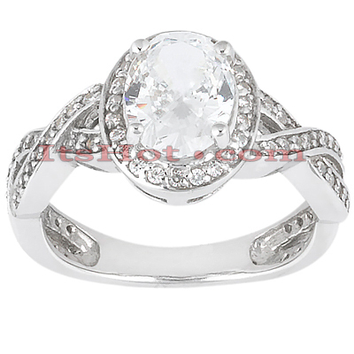 14K Gold Diamond Unique Engagement Ring 1.11ct Main Image